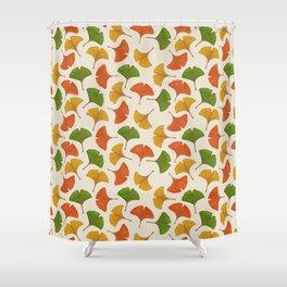 Fall ginkgo biloba leaves pattern Shower Curtain