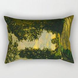 Claude Monet Impressionist Landscape Oil Painting Walk (Road of the Farm Saint-Siméon) 1864 Rectangular Pillow