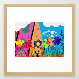 Floral Eye Framed Art Print