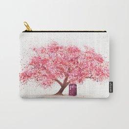 Tardis Art Autumn Tree Blossom Carry-All Pouch
