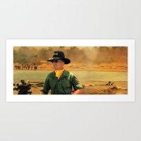 Robert Duvall @ Apocalypse Now Art Print