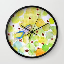 LIGGER I VALMUER / IN POPPIES Wall Clock