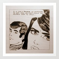 Pop-Art Comic 1 Art Print