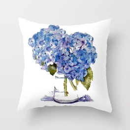 Cape Cod Hydrangea Large Canvas Throw Pillow