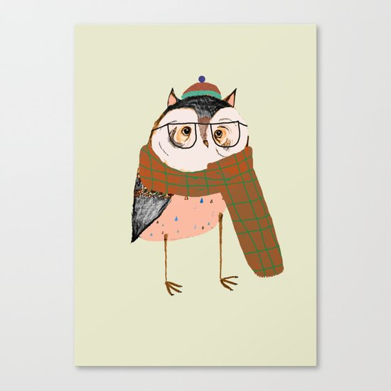 Owls Love Scarfs.  Canvas Print