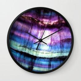 Rainbow Fluorite Wall Clock
