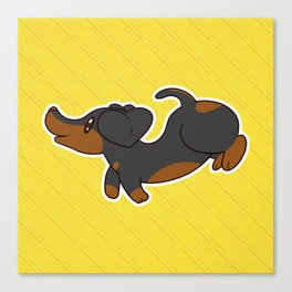 [Dogs] Sweet Dachshund Canvas Print