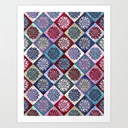 Colored Wood Pattern 3 / Color Variation Art Print