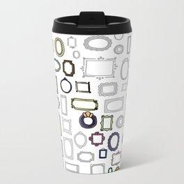 letter N - nailed frames Metal Travel Mug