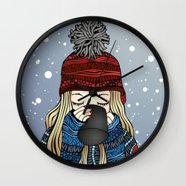 Snow Day Wall Clock