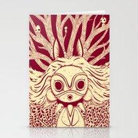 princess mononoke Stationery Cards featuring Princess Mononoke by andbloom