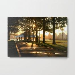 Hoboken Pier Sunrise Metal Print