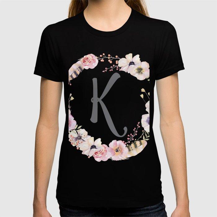 Floral Wreath - K T-shirt