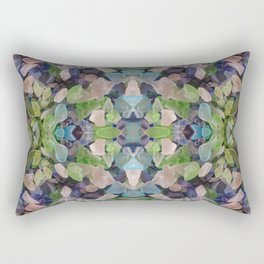 Sea glass mosaic Rectangular Pillow