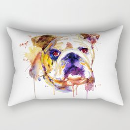 English Bulldog Head Rectangular Pillow