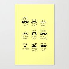 Eyes and Facial Hair Canvas Print