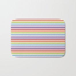 Modern artistic geometrical colorful violet orange green stripes Bath Mat