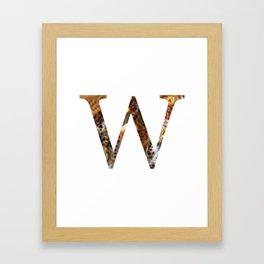 """Initial letter """"W"""" Framed Art Print"""