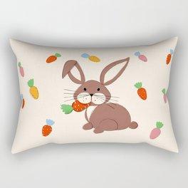 Cute Bunny and Carrots Rectangular Pillow