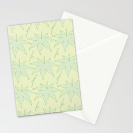 Japanese Maple Leaf and Seed Pattern Stationery Cards
