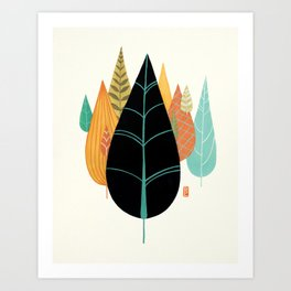 Fair Forest- Retro Orange Palette Art Print