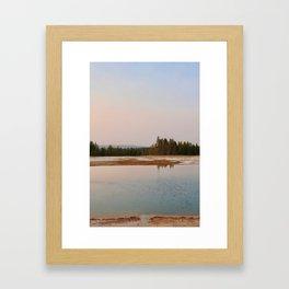 Yellowstone Evening II Framed Art Print