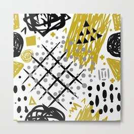 Abstract Pattern 3 Metal Print