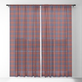 MacEdward Tartan Plaid Sheer Curtain