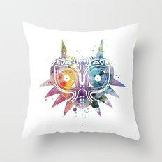 Majoras Mask Throw Pillow