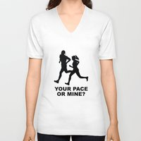 lee pace V-neck T-shirts featuring Your Pace Or Mine? by AmazingVision