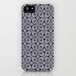 My Lucky Day Lilac Gray iPhone Case