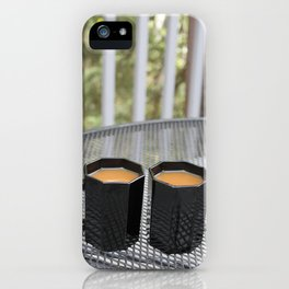 Coffee Times Two iPhone Case