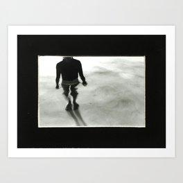 Black and White Water  Art Print