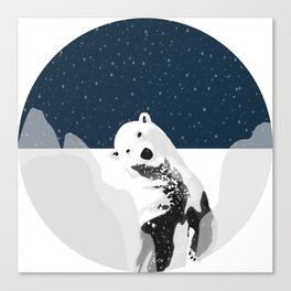 Unique Polar Bear Scene Canvas Print