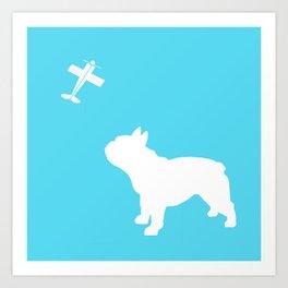 French Bull dog art Art Print