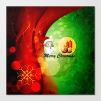 merry christmas Canvas Prints featuring Merry christmas by nicky2342