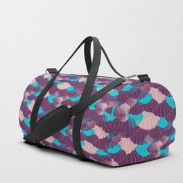 Scallop Abstract - Purple, Pink, Blue Duffle Bag