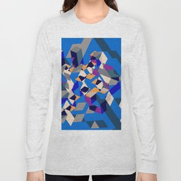 Blue collage Long Sleeve T-shirt