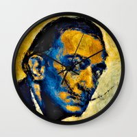 salvador dali Wall Clocks featuring salvador by KrisLeov