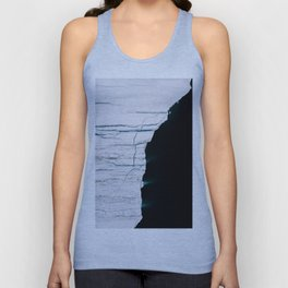 Black and White - Abstract minimal Iceberg aerial view in Greenland - Landscape Photography Unisex Tank Top