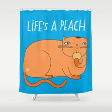 Life's A Peach When You're Orange Shower Curtain