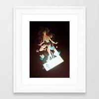 tangled Framed Art Prints featuring Tangled by Marija Tiurina
