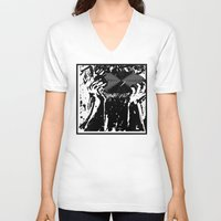 vinyl V-neck T-shirts featuring Vinyl by Spew Jersey