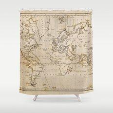 World Map 1844 Shower Curtain
