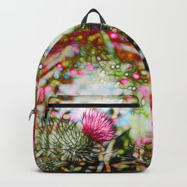 Vibrant abstract  thistle Backpack