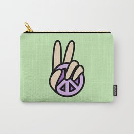 CND Peace symbol Hand V Sign Carry-All Pouch