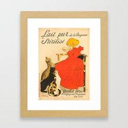 """Théophile Steinlen """"Lait Pur de la Vingeanne Stérilisé"""" Framed Art Print"""