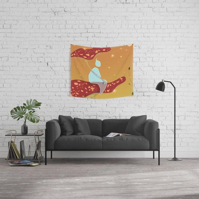 Midsummer Raindrop Wall Tapestry