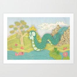 Javanese mystical dragon: Antaboga Art Print