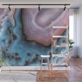 Pink and Blue agate Wall Mural